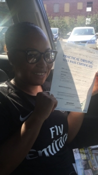 Congratulations to Julian passing her driving test with 
