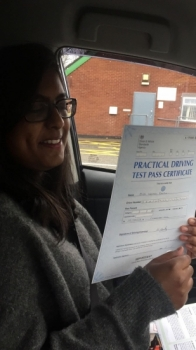 Congratulations to Urvashi passing her driving test with L-Team driving school for the first time!! #passed#driving#learner🏆 #manchester#drivinglessons #help #learning #cars Call us know to get booked in on 0333 240 6430