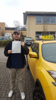 Congratulations to Miro passing his driving test with 