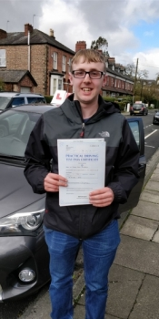Congratulations to Jason passing his driving test with 