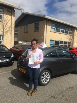 Congratulations to Tanis passing her driving test with 