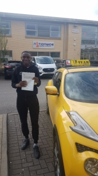 Congratulations to Malik passing his driving test with 