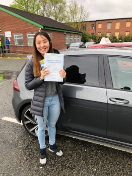 Congratulations to Ying passing her driving test with