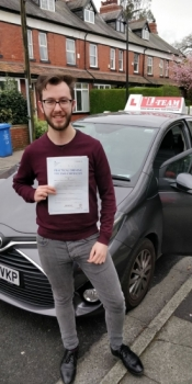 Congratulations to Jake passing his driving test with 