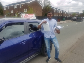 Congratulations to DR Murtada passing his driving test with 