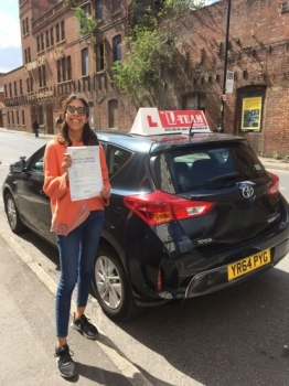 Congratulations to Dalys passing her driving test with 