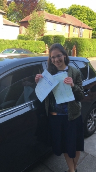 Congratulations to Malky  passing her driving test with 