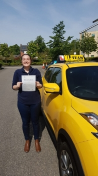 Congratulations to Rachel passing her driving test with 