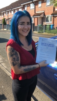 Congratulations to Regan passing her driving test with 