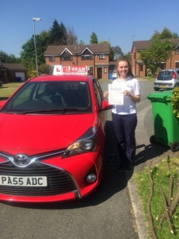 Congratulations to Lucy passing her driving test with 