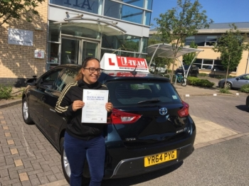 Congratulations to Alganesh passing her driving test with 