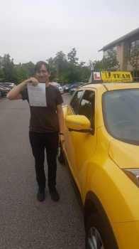 Congratulations to Ignacio passing his driving test with 