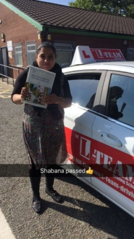 Congratulations to Shabana passing her driving test with L-Team driving school for the first time!! #passed#driving#learner🏆 #manchester#drivinglessons #help #learning #cars Call us now to get booked in on 0333 240 6430