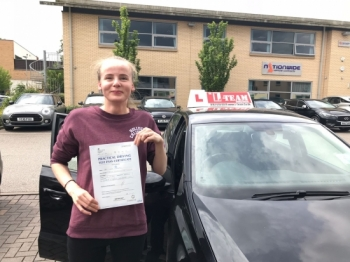 Congratulations to Leva  passing her driving test with L-Team driving school for the first time!! #passed#driving#learner🏆 #manchester#drivinglessons #help #learning #cars Call us now to get booked in on 0333 240 6430