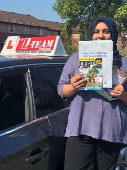 Congratulations to Faiza passing her driving test with L-Team driving school for the first time!! #passed#driving#learner🏆 #manchester#drivinglessons #help #learning #cars Call us now to get booked in on 0333 240 6430