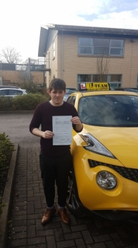 Congratulations to James passing his driving test with 