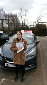Congratulations to AMY passing her driving test with 