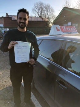 Congratulations to Usman passing his driving test with