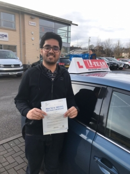 Congratulations to Farhan passing his driving test with 
