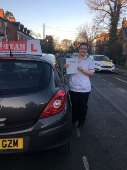 Congratulations to Emer passing her driving test with