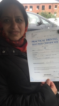 Congratulations to Nabela passing her driving test with