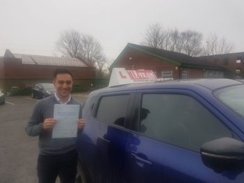Congratulations to Rafih passing his driving test with 