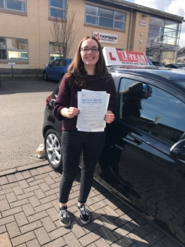 Congratulations to Jenny passing her driving test with 