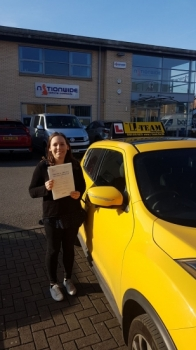 Congratulations to Magda passing her driving test with 