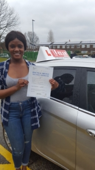 Congratulations to Nadia passing her driving test with 