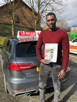 Congratulations to Nelson passing his driving test with 