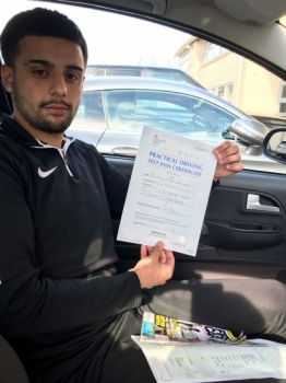 Congratulations to Azeem passing his driving test with 